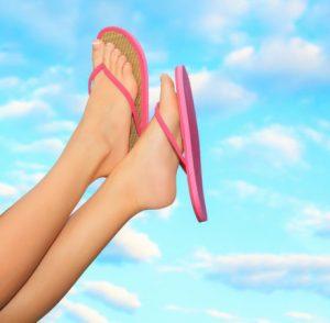 汗疱のない綺麗な素足